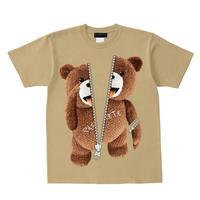 RARETE (ラルテ)    あっかんべー  (茶色)  ZIP ファスナー サンド  Tシャツ