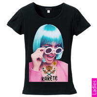 RARETE (ラルテ)   ウインク サングラス GIRL Tシャツ ブラック  星柄 star (レディース)