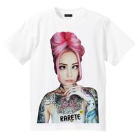RARETE (ラルテ)    girl Eye Tatoo Tシャツ  ホワイト