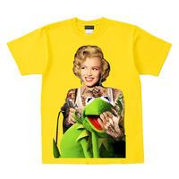 RARETE (ラルテ)   マリリンモンロー  Frog  Tシャツ  イエロー  Tシャツ 星柄 star