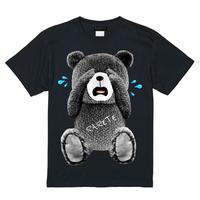 RARETE (ラルテ)  泣いちゃった! 【グレイ】 Tシャツ ブラック