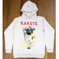 RARETE (ラルテ) DOG イナズマ 犬 Pag パグ ファックパーカー オートミール 星柄