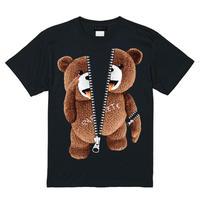 RARETE (ラルテ)    あっかんべー  (茶色)  ZIP ファスナー ブラック  Tシャツ