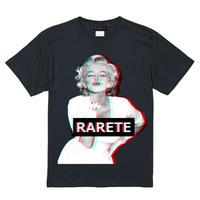 RARETE (ラルテ)  マリリンモンロー 3D KISS  Tシャツ ブラック