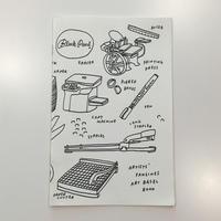 Artists' Fanzines Art Basel Book by Jason Polan