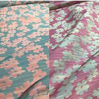 【ハギレ】花柄カットジャカード 2カラーバリエーション ASS