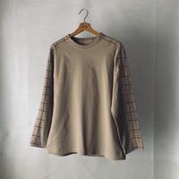 Tartan  brown L/S T-shirt