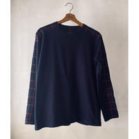 Tartan  navy L/S T-shirt