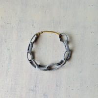 Chain necklace -gray-