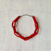 Chain necklace -Red-