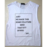 "Just21 CUT OFF TEE      ""WE MADE THIS"""