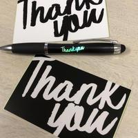 Thank you レインボーボールペン&ステッカーセット