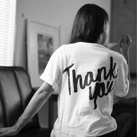 """JUST21  LOGO """"Thank you"""" TシャツWHITE MODEL"""
