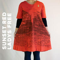 新しい暮らし Short One Peace /Sunset Red Hemp