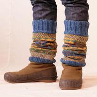 草木染 レッグウォーマー手編み
