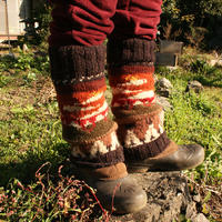 Nature Leg warmer ニット 手編み LEO