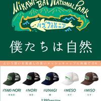 予約販売✨三河湾 勝手に国立公園 MIKAWABAY NATIONAL PARK メッシュキャップ✨