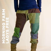 [訳あり]FARM PACH FLEECE PANTS/ MORNING FARM