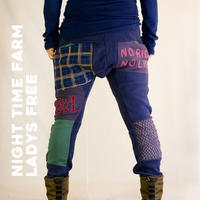 (訳あり)FARM PACH FLEECE PANTS/ NIGHT TIME FARM