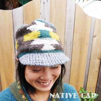 (訳あり)ネイティブニットキャップ 手編み