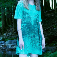 新しい暮らし Short One Peace /Turquoise Green Hemp