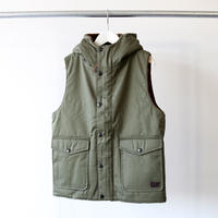 ARMEN アーメン / HOODED VEST WITH FLEECE LINING NAM1671 (レディース)
