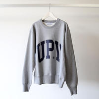 UNIVERSAL PRODUCTS / YAAH COLLEGE CREW NECK SWEAT [GRAY] 193-60103
