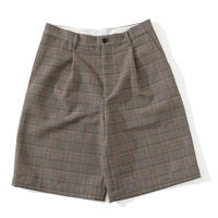 UNIVERSAL PRODUCTS / PLAID 1 TUCK WIDE SHORTS