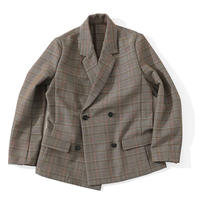 MY_ / DOUBLE BUTTON JACKET [BROWN CHECK]