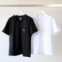 DANTON ダントン / Vネック ポケットTシャツ JD-9088 (レディース)