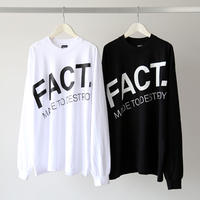 FACT. / Diagional Logo L/S Tee (ユニセックス)