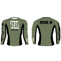 RBLS SQ LOGO L/S RASH GUARD