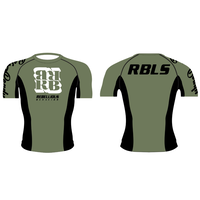 RBLS SQ LOGO S/S RASH GUARD