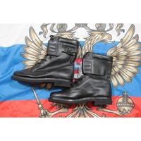 ロシア連邦軍 官給品 黒革ブーツ アンクルベルト付き 1998年規格