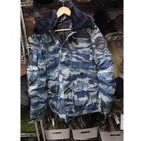 ロシア警察仕様 Blue Kamish迷彩 冬服 ジャケット フルパッチ(ネックファー無)