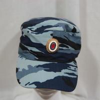 SOBR放出 内務省官給品 黒/BlueKamysh/Kukla迷彩 キャップ 帽章付き 58cm