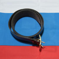ロシア内務省 官給品 黒革ベルト 2005年製
