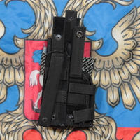 SSO製 中型拳銃用 ホルスター 両利き対応 Molle 黒