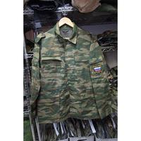 ロシア連邦軍 官給品 実物 2002年製 フローラ迷彩服  上下セット