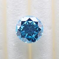 【5/13更新】ブルーダイヤモンド 0.375ctルース(トリートメント, Treted FANCY DEEP GREEN BLUE, VS2)