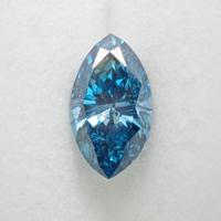 【6/27更新】ダイヤモンド 0.473ctルース(Treted FANCY DEEP GREEN BLUE, I1, トリートメント)