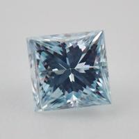 【4/11掲載】プリンセスカットダイヤモンド(アイスブルー)0.083ctルース