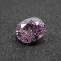 【6/4更新】ピンクダイヤモンド 0.164ctルース(FANCY PURPLISH PINK   , I1)
