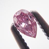 【10/9掲載】ピンクダイヤモンド 0.085ctルース(FANCY INTENSE PURPLISH PINK, I1)