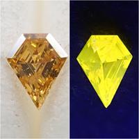 【11/7更新】イエローダイヤモンド 0.043ctルース(FANCY DEEP ORANGY YELLOW, SI2)
