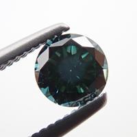 【10/5更新】ダイヤモンド (トリートメント) 0.294ctルース(Treted FANCY DEEP BLUE GREEN, SI1)