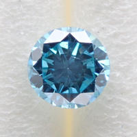 【10/7更新】ブルーダイヤモンド (トリートメント) 0.192ctルース(Treted FANCY DEEP GREEN BLUE, SI2)