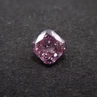 【1/19掲載】ピンクダイヤモンド 0.066ctルース(FANCY INTENSE PURPLISH PINK   , SI2)