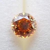 【11/14掲載】イエローダイヤモンド 0.228ctルース(FANCY DEEP ORANGE YELLOW, VS2)