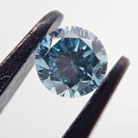 【9/25掲載】アイスブルーダイヤモンド 0.065ctルース(Treted FANCY INTENSE GREENISH BLUE, SI2)